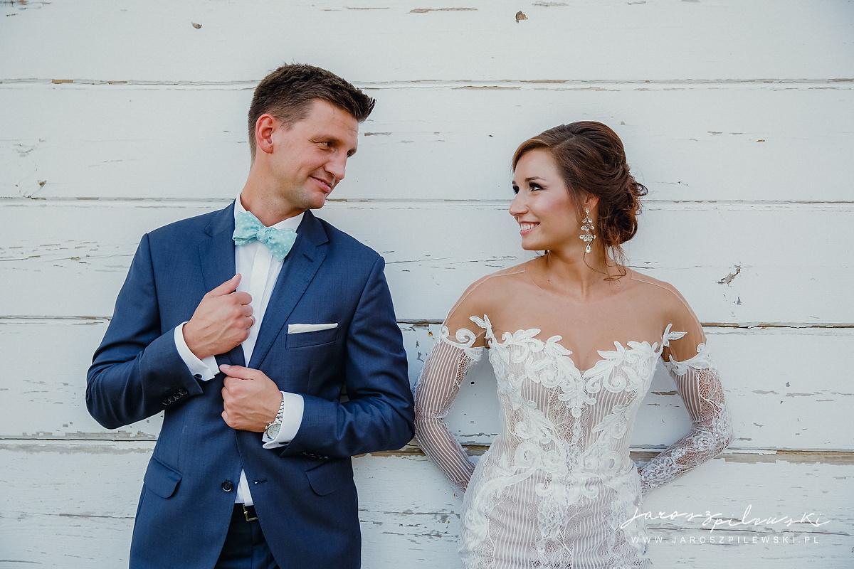 Portret pary młodej z poślubnej sesji.